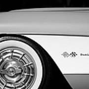 1957 Chevrolet Corvette Wheel Emblem Art Print