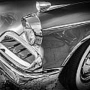 1957 Studebaker Golden Hawk Bw  Art Print