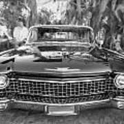 1960 Cadillac Eldorado Biarritz Convertible Painted Bw Art Print