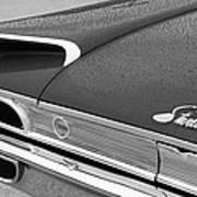 1960 Ford Galaxie Starliner Taillight Emblem Art Print