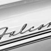 1963 Ford Falcon Futura Convertible   Emblem Art Print