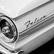 1963 Ford Falcon Futura Convertible Taillight Emblem Art Print