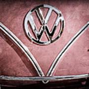 1964 Volkswagen Vw Double Cab Emblem Art Print