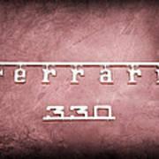 1967 Ferrari 330 Gtc Emblem Art Print