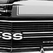 1970 Chevrolet Chevelle Ss Grille Emblem Art Print