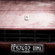 1972 Ferrari 365 Gtb-4a Grille Emblem Art Print