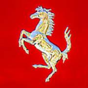 1999 Ferrari 550 Maranello Stallion Emblem Art Print