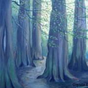 A Morning Stroll Art Print by Glenda Barrett