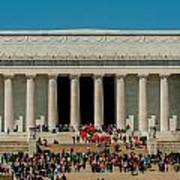Abraham Lincoln Memorial In Washington Dc Usa Art Print