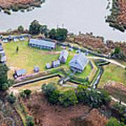 Aerial Near Jekyll Island Art Print