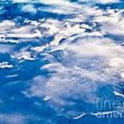Aerial View Of Snowcapped Peaks In Bc Canada Art Print
