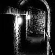 Altered Image Of The Catacomb Tunnels In Paris France Art Print