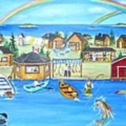 Arctic Lodges Art Print