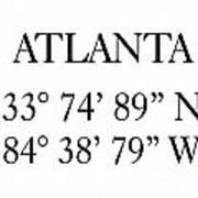 Atlanta Coordinates Art Print