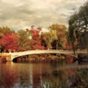 Autumn At Bow Bridge Art Print