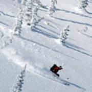Backcountry Ski Traverse In Glacier Art Print