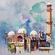 Badshahi Mosque Art Print