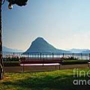 Bench On The Lakefront Art Print