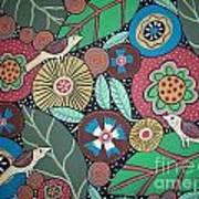 3 Bird Botanical Art Print