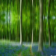 Blue Bell Art Digital Art Art Print