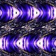 Blue Poppy Fish Abstract Art Print