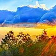 Blue Ridge Parkway Late Summer Appalachian Mountains Sunset West Art Print