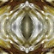 Cafe Au Lait Kaleidoscope Art Print