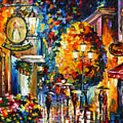 Cafe In The Old City Art Print
