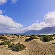 Caleta De Famara Beach On Lanzarote Art Print