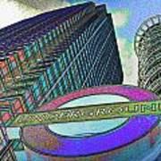 Canary Wharf London Art Art Print