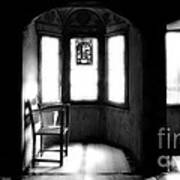 3 Castle Rooms Bw Art Print