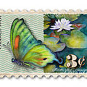 3 Cent Butterfly Stamp Art Print