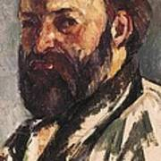 Cezanne, Paul 1839-1906. Self-portrait Art Print