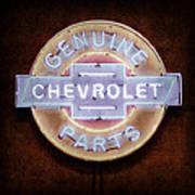 Chevrolet Neon Sign Art Print