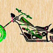 Chopper Motorcycle Art Print