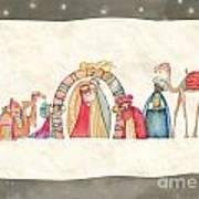 Christmas Nativity Scene Art Print