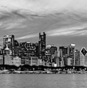 City At The Waterfront, Lake Michigan Art Print