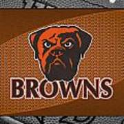 Cleveland Browns Art Print by Joe Hamilton