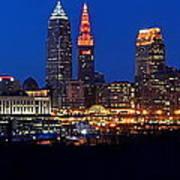 Cleveland Panorama Art Print