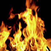 Close-up Of Fire Flames Art Print