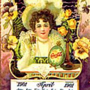 Coca - Cola Vintage Calendar Art Print