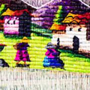 Colorful Fabric At Market In Peru Art Print