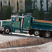 Construction Truck Art Print