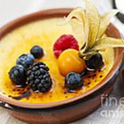 Creme Brulee Dessert Art Print by Elena Elisseeva