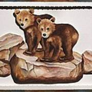 3-d Bearizona Bear Babies Art Print