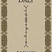 Daly Written In Ogham Art Print