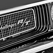 Dodge Challenger Rt Grille Emblem Art Print