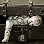 Doll In Suitcase Art Print
