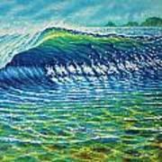 Dolphin Surf Art Print