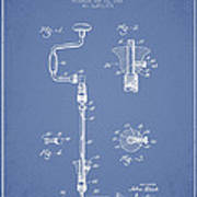 Drill Pounder Patent Drawing From 1922 Art Print by Aged Pixel